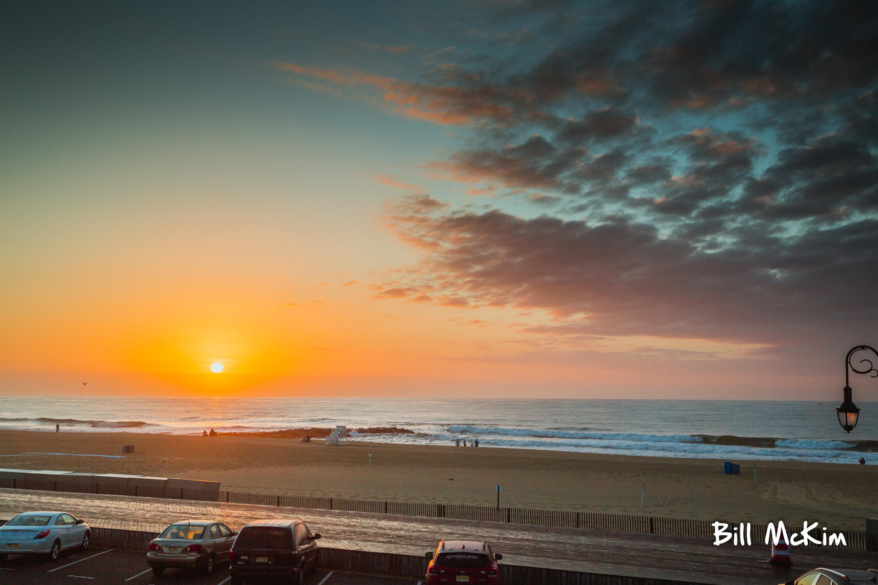 belmar beach sunrise by bill mckim